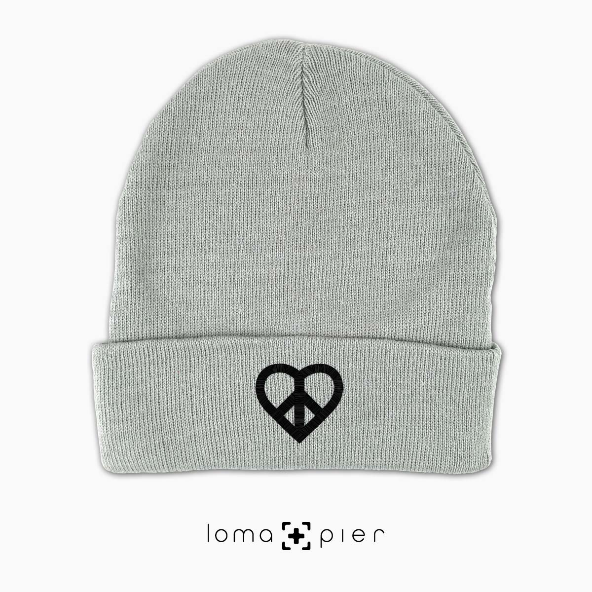 HEART and PEACE SIGN icon beanie cap by the loma+pier hat shop