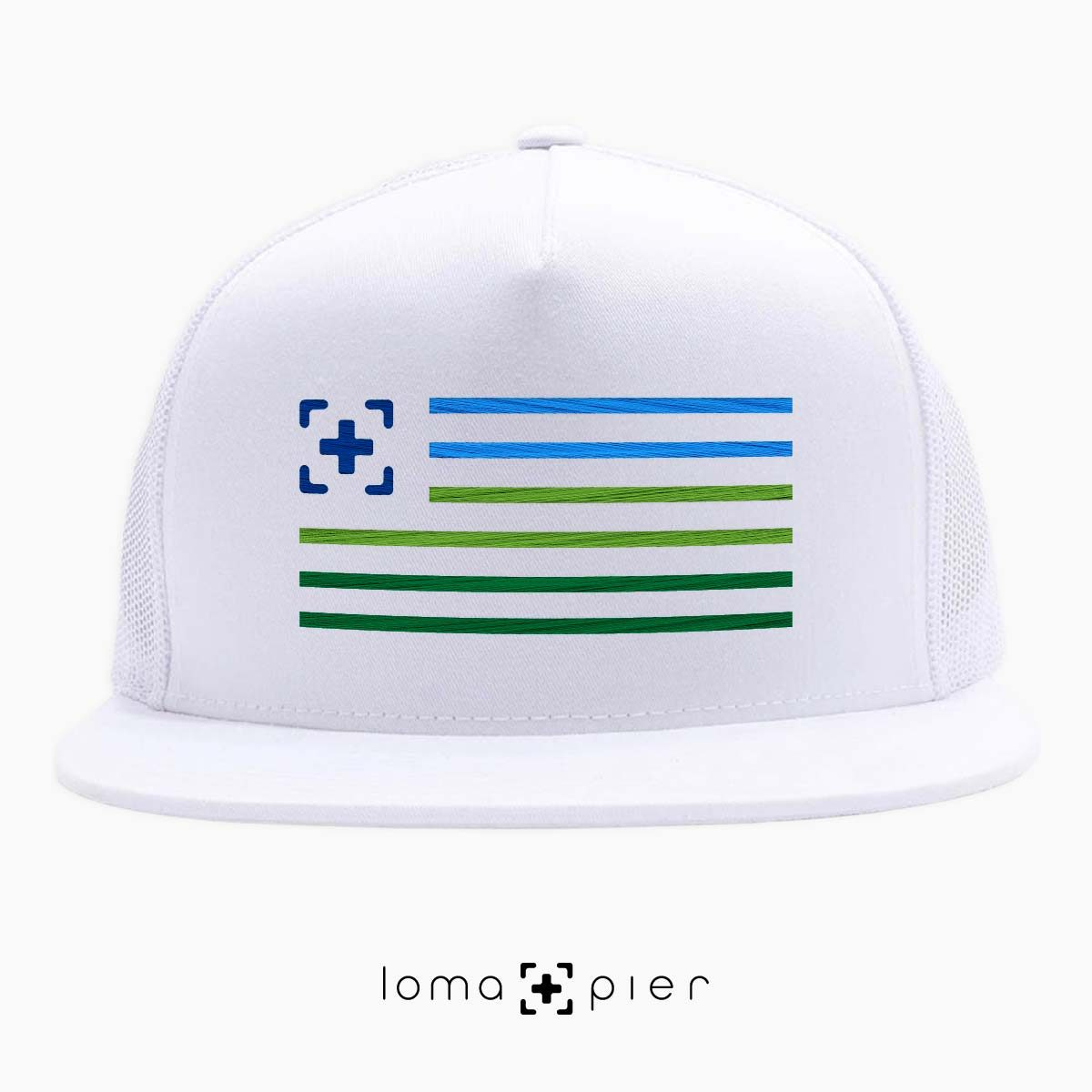 loma+stripes beach netback hat in white by loma+pier hat store
