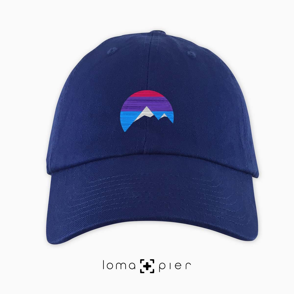 I'M PEAKING mountains icon dad hat in blue by loma+pier beanie store