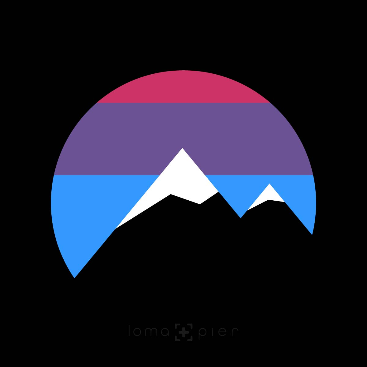i'm peaking mountains icon design by loma+pier hat store