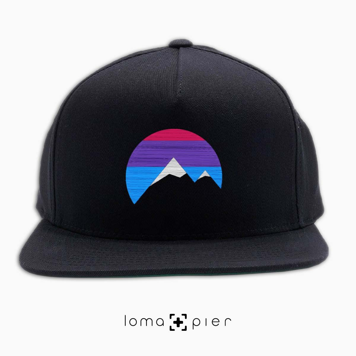 I'M PEAKING mountains icon snapback hat in black by loma+pier beanie store