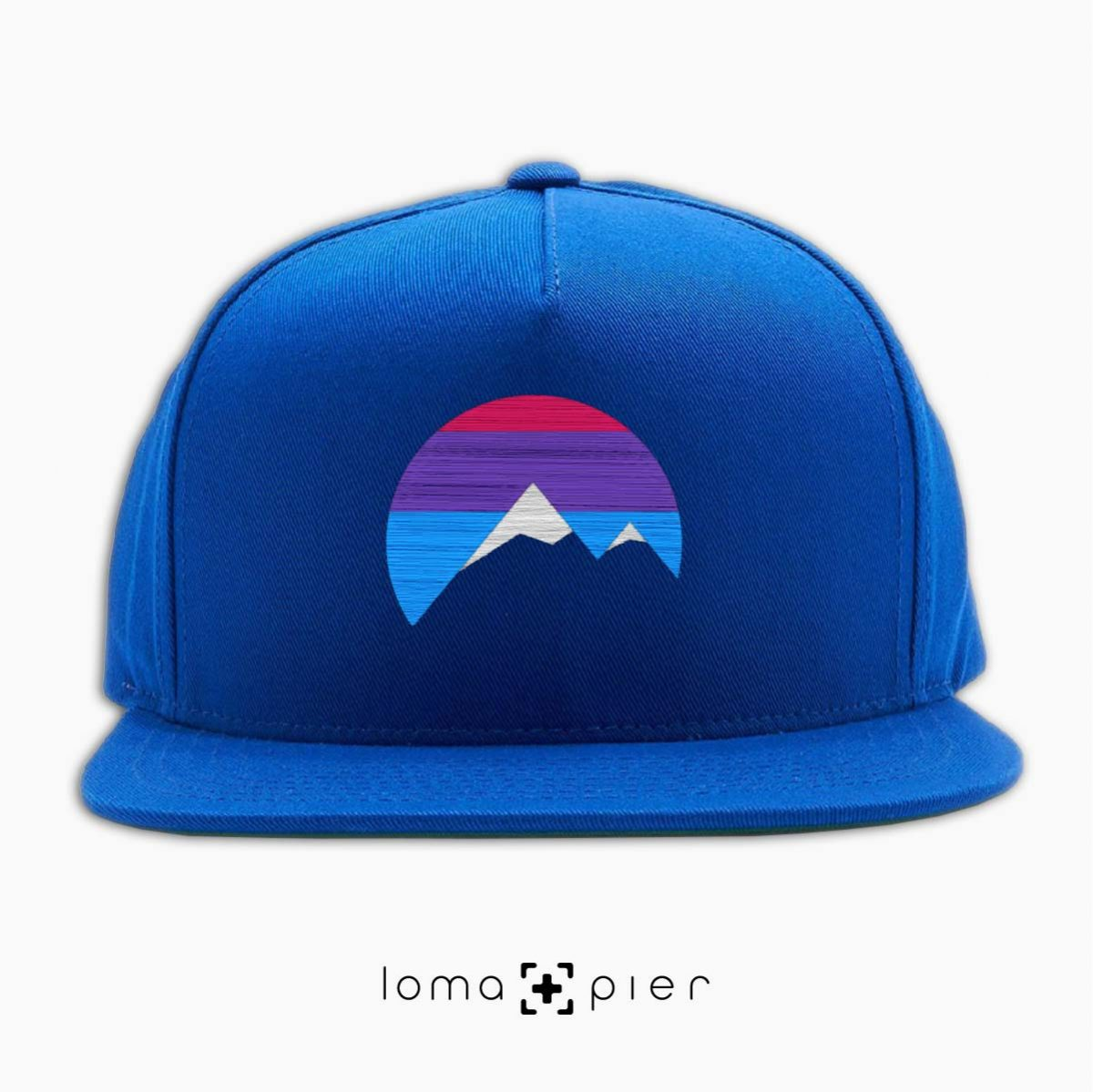 I'M PEAKING mountains icon snapback hat in royal blue by loma+pier beanie store