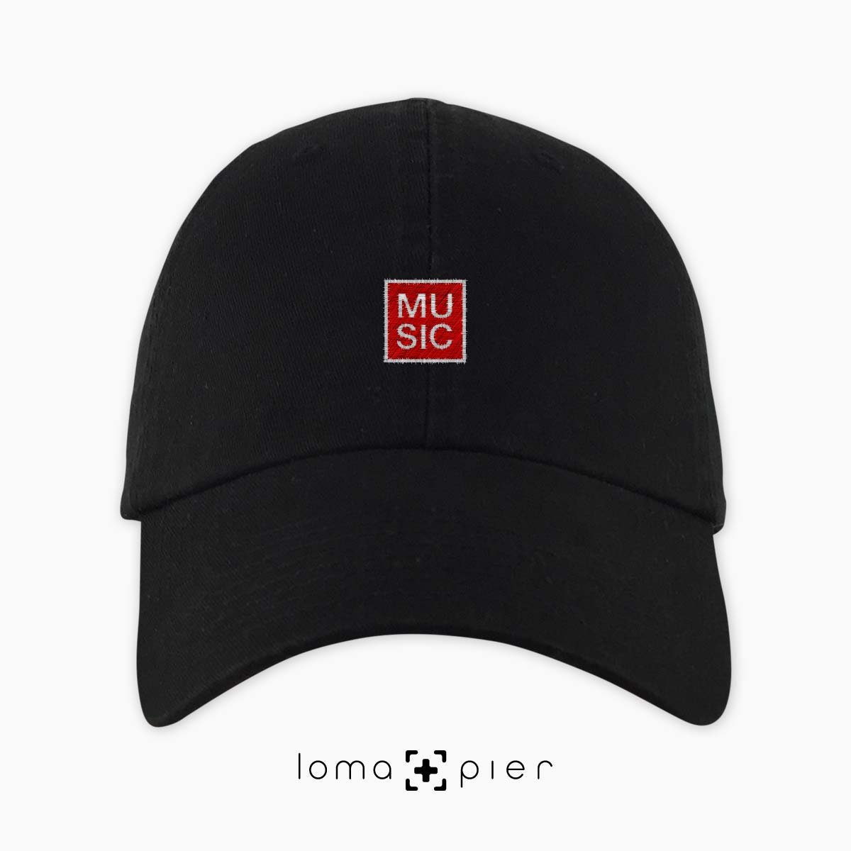 MUSIC BOX dad hat in black by loma+pier hat store