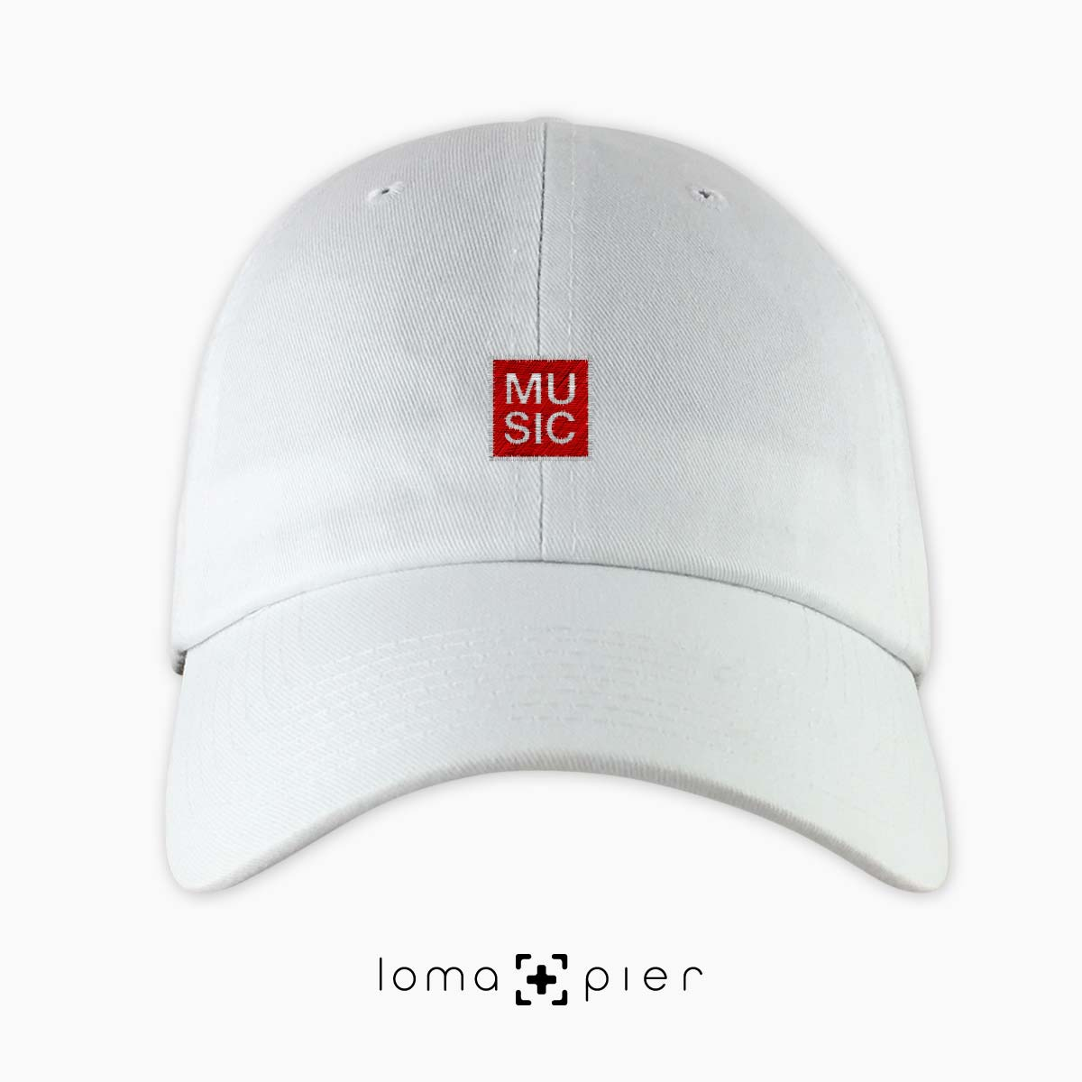 MUSIC BOX dad hat in white by loma+pier hat store