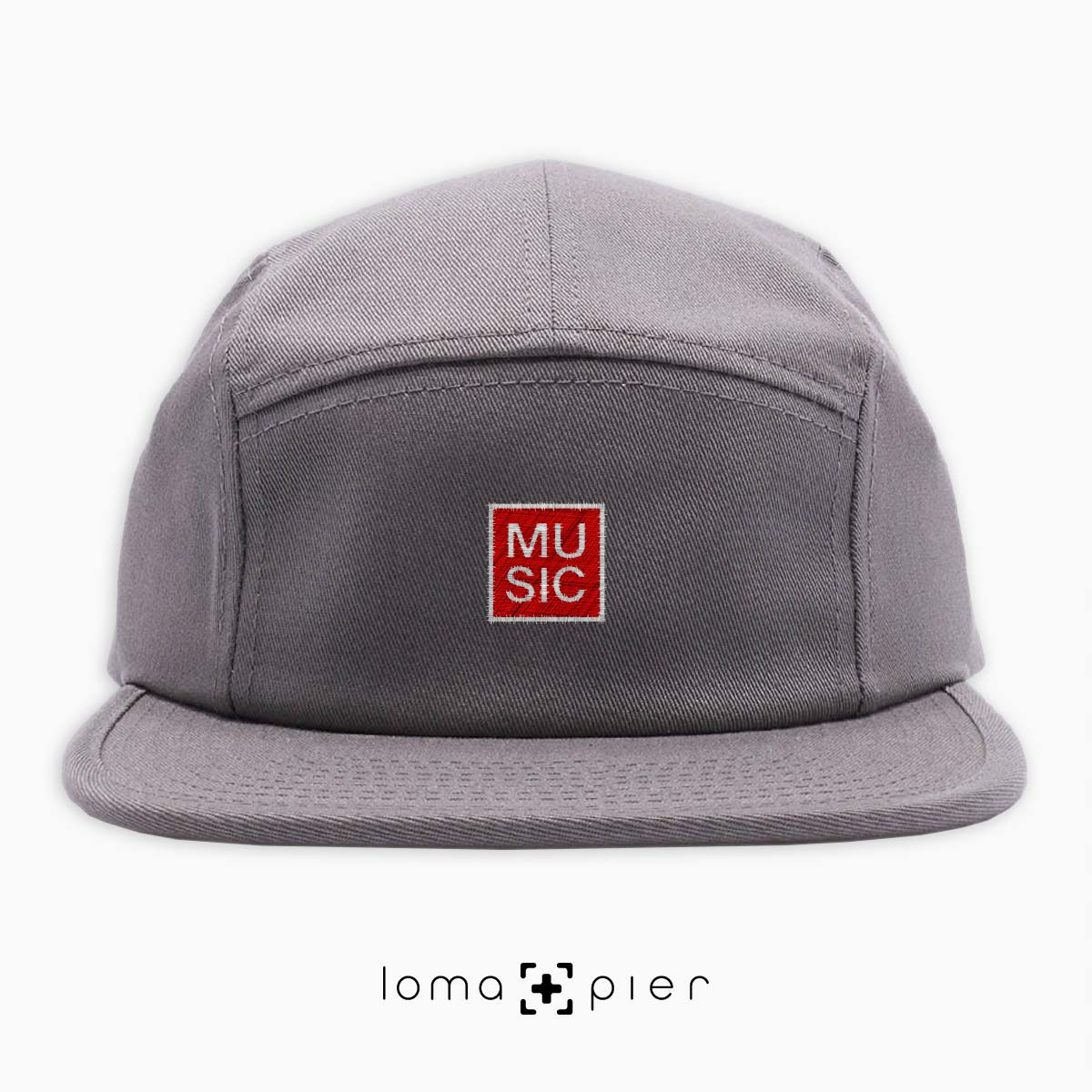 MUSIC BOX cotton 5-panel hat in grey by loma+pier hat store