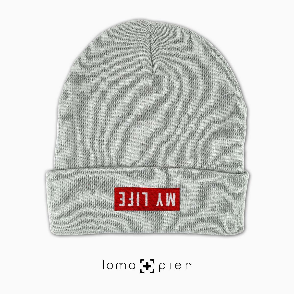 grey MY LIFE beanie cap