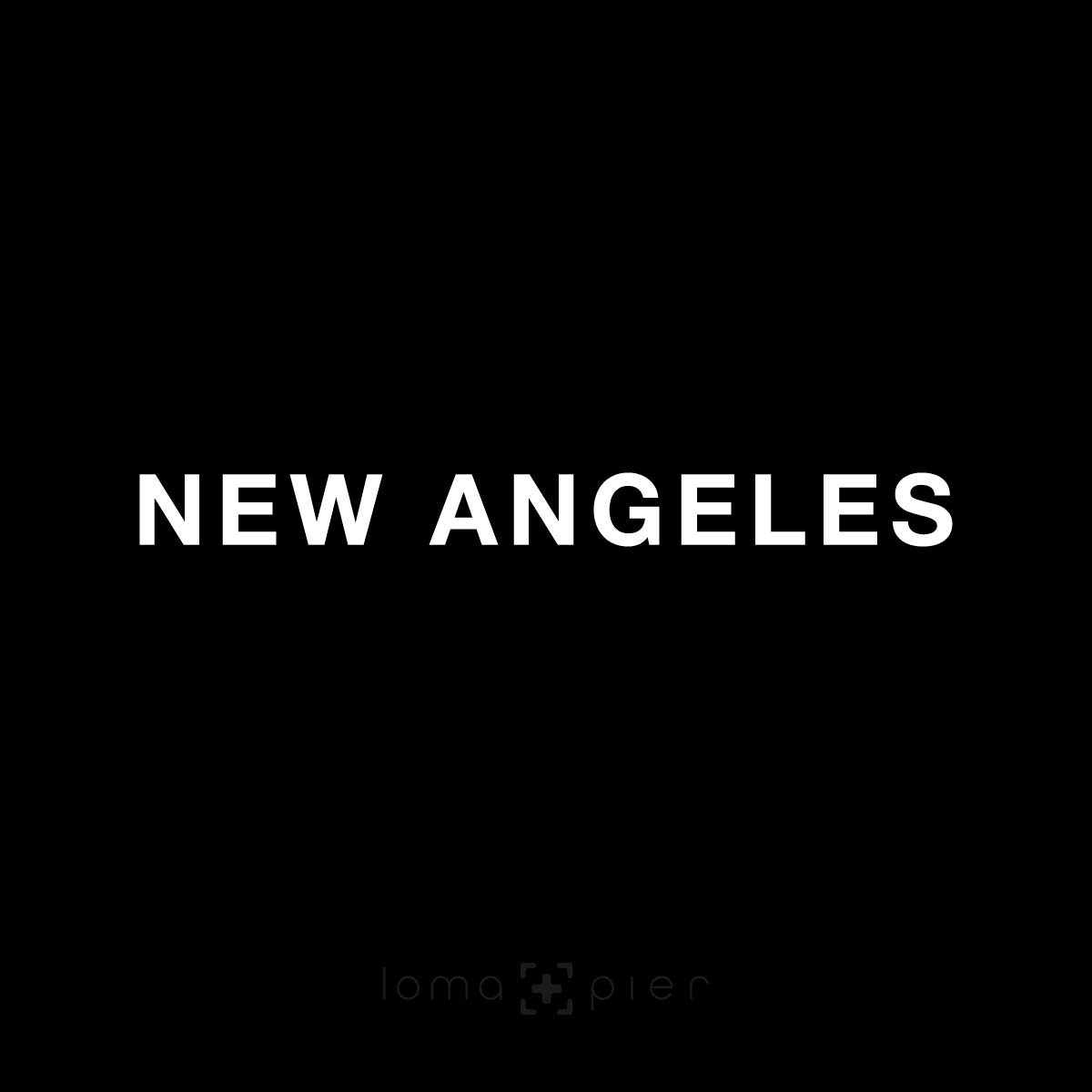 NEW ANGELES typography design by loma+pier hat store