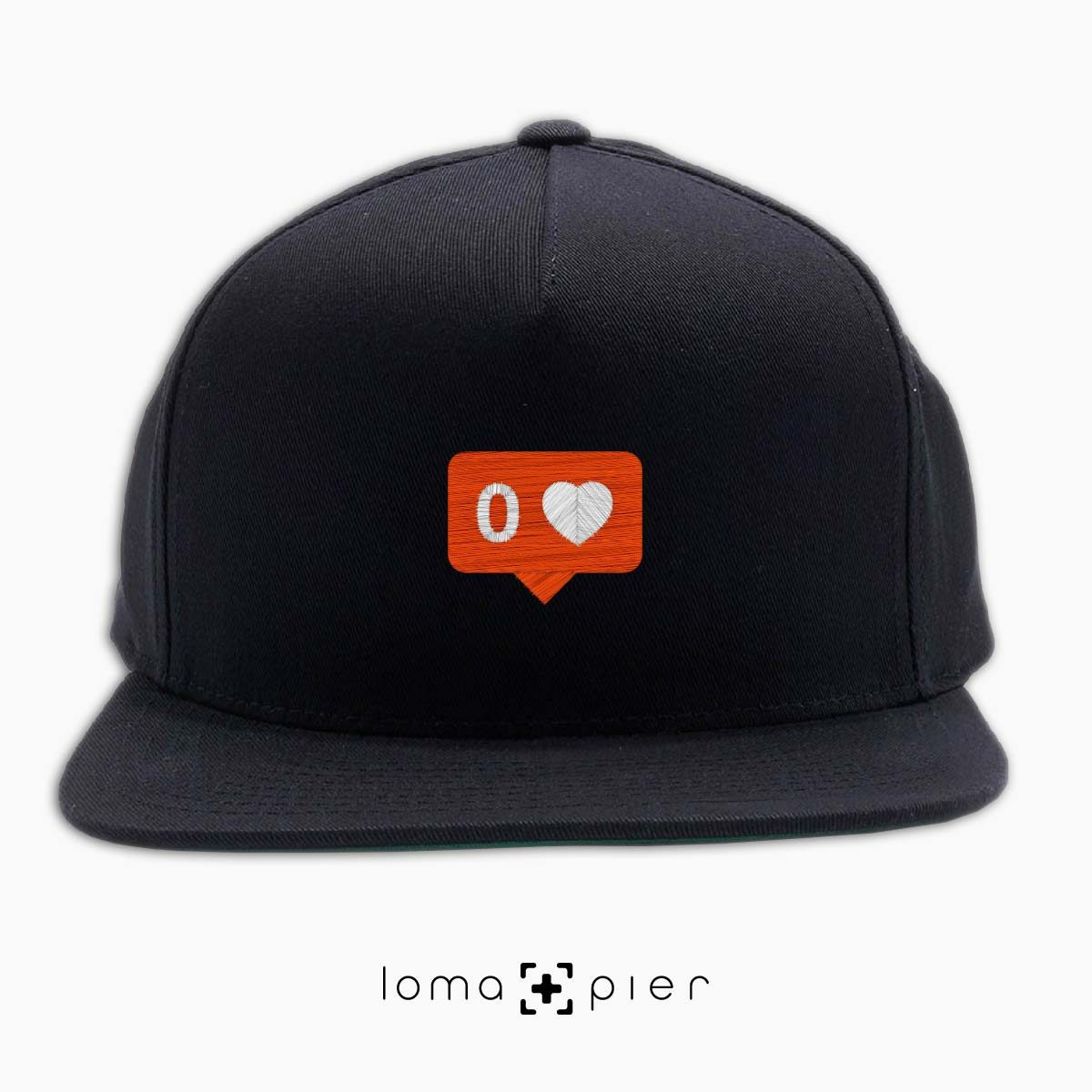 NO LOVE snapback hat in black by lomapier hat store