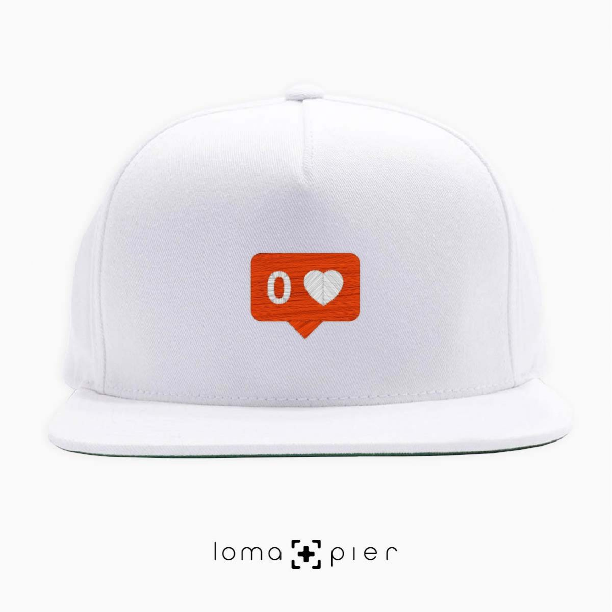 NO LOVE snapback hat in white by lomapier hat store