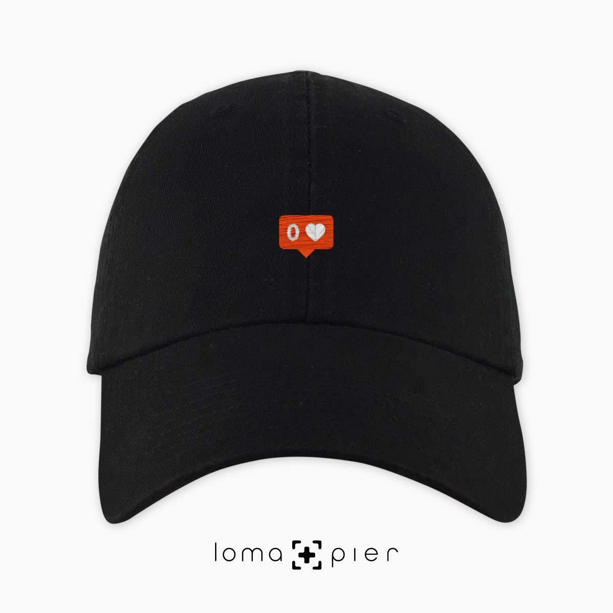 NO LOVE icon dad hat in black by loma+pier hat store