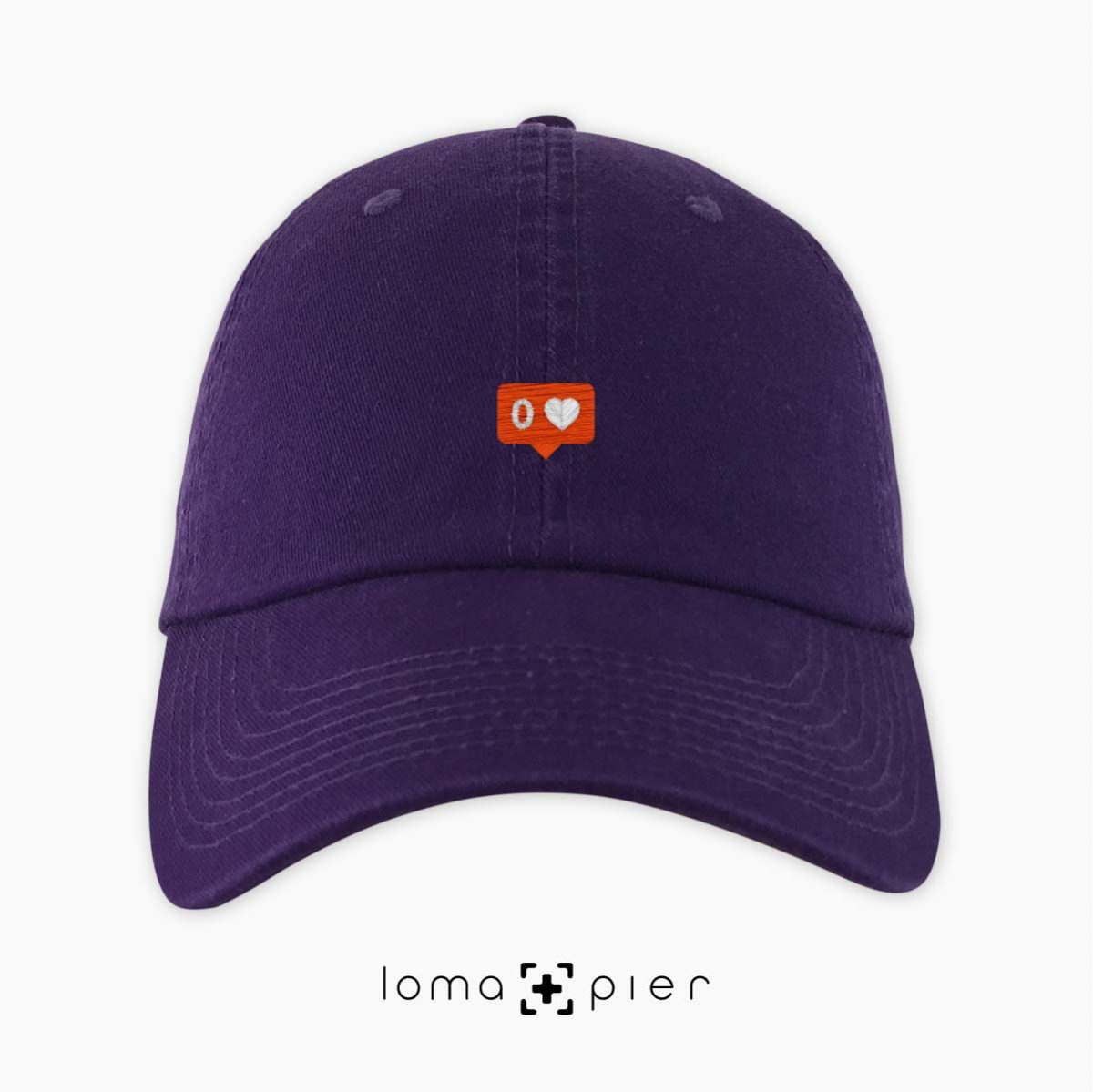 NO LOVE icon dad hat in purple by loma+pier hat store