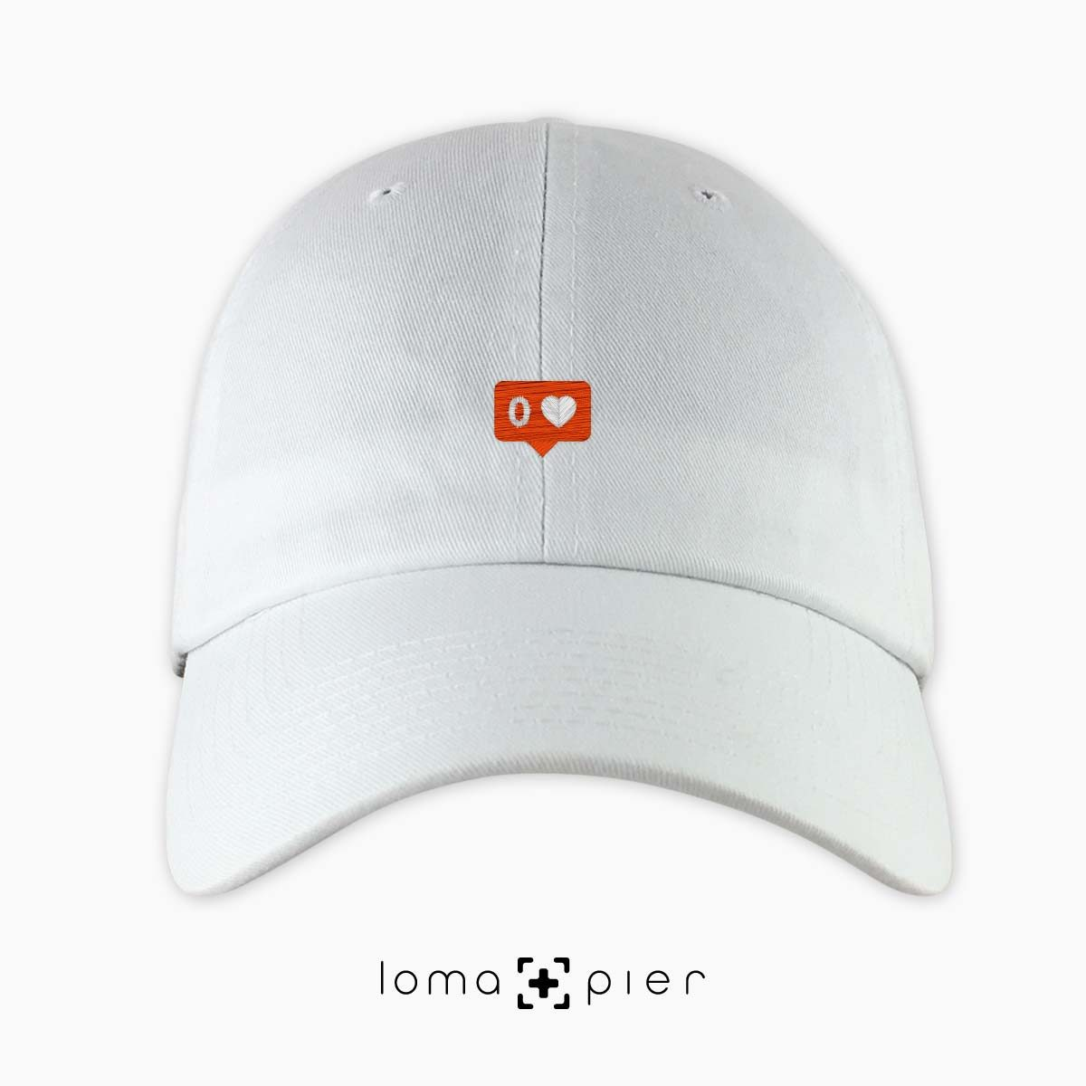 NO LOVE icon dad hat in white by loma+pier hat store