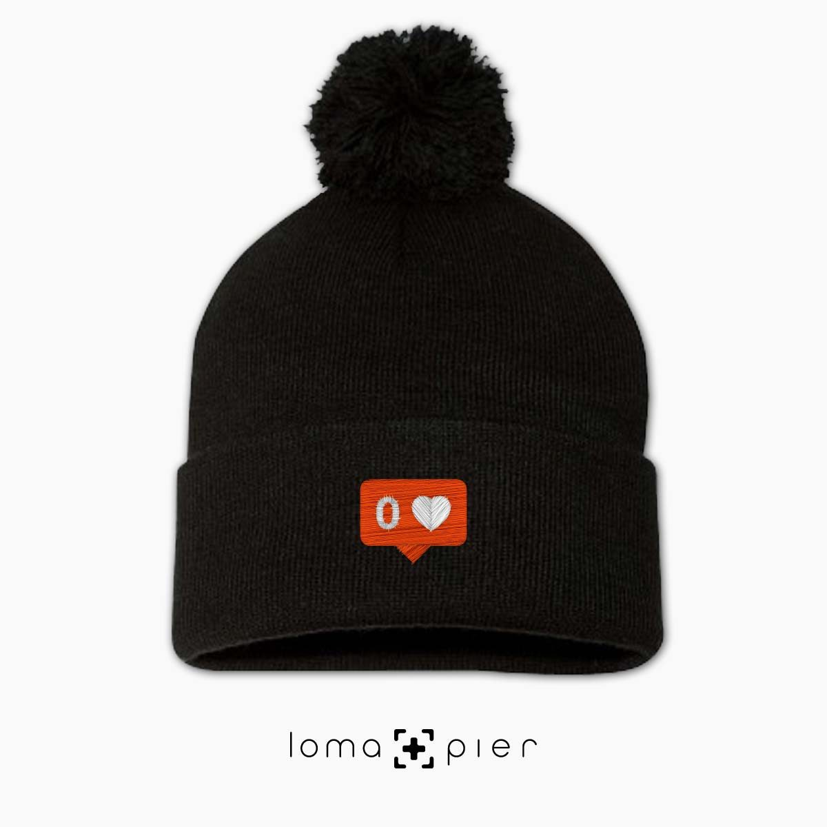 NO LOVE icon beanie in black by loma+pier beanie store