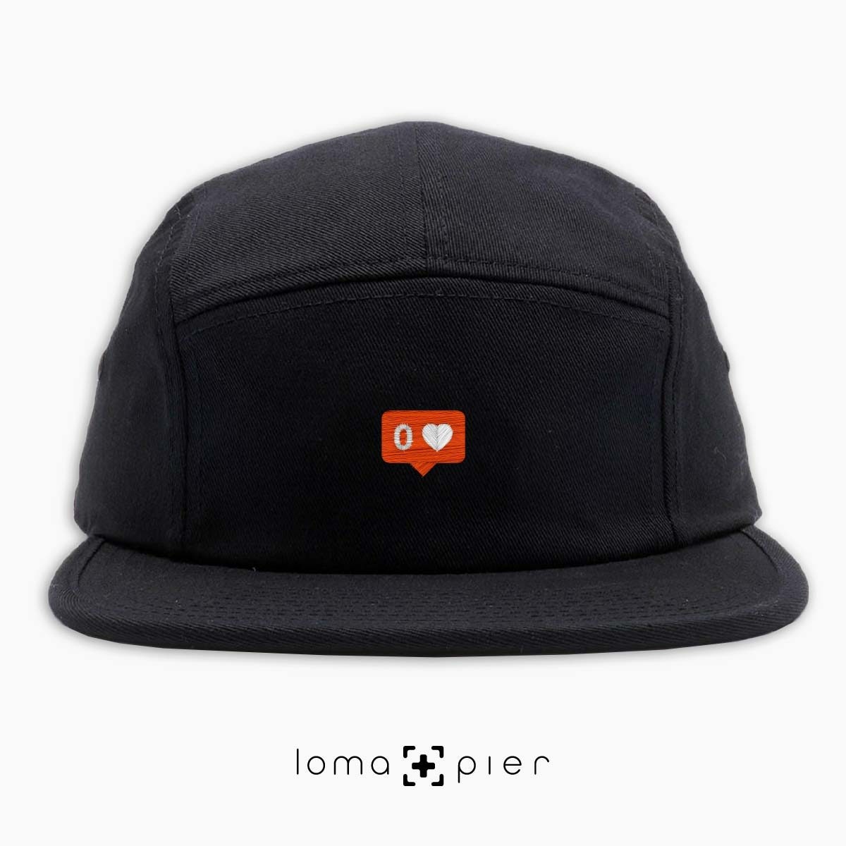NO LOVE icon 5-panel hat in black by loma+pier hat store