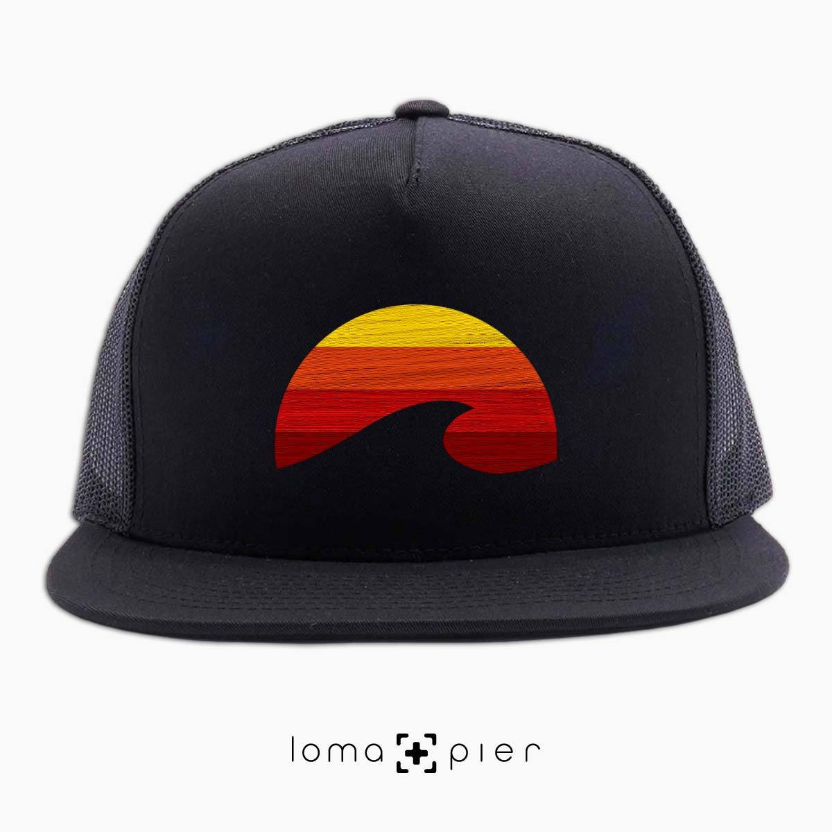 PACIFIC SUN manhattan beach netback hat in black by loma+pier hat store