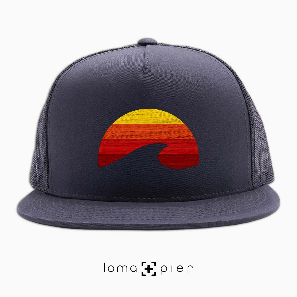 PACIFIC SUN manhattan beach netback hat in charcoal by loma+pier hat store