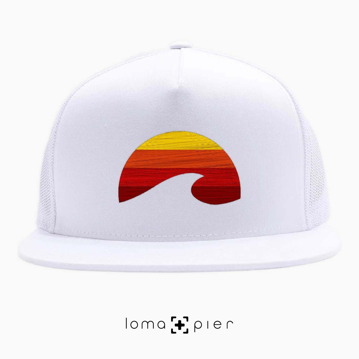 PACIFIC SUN manhattan beach netback hat in white by loma+pier hat store