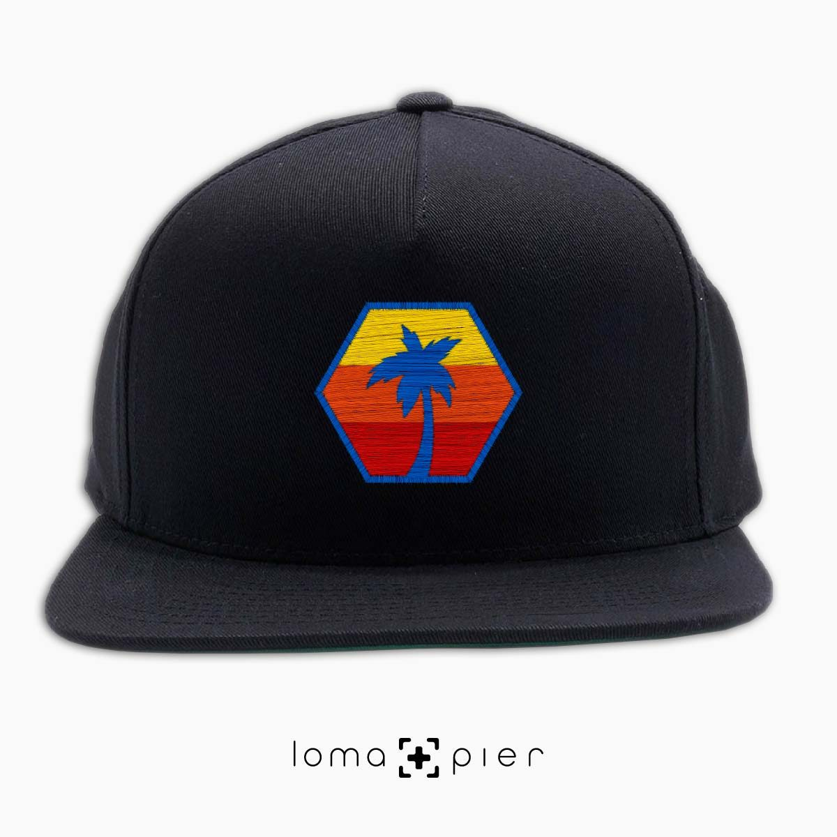 HEXAGON TO THE BEACH hat in black by loma+pier hat store