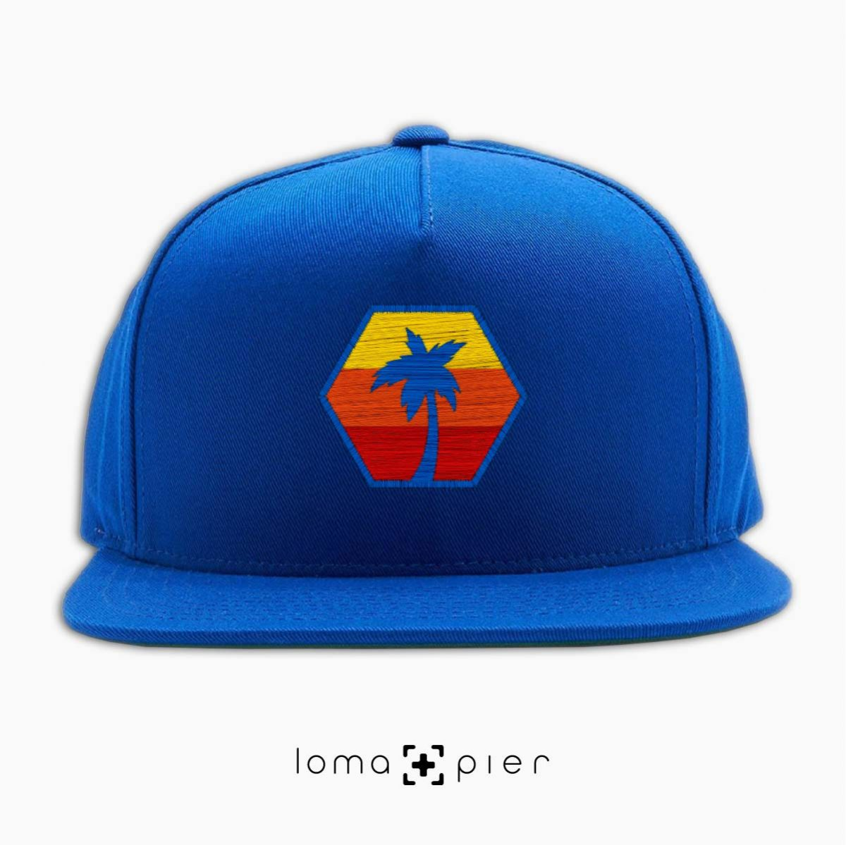 HEXAGON TO THE BEACH hat in royal blue by loma+pier hat store