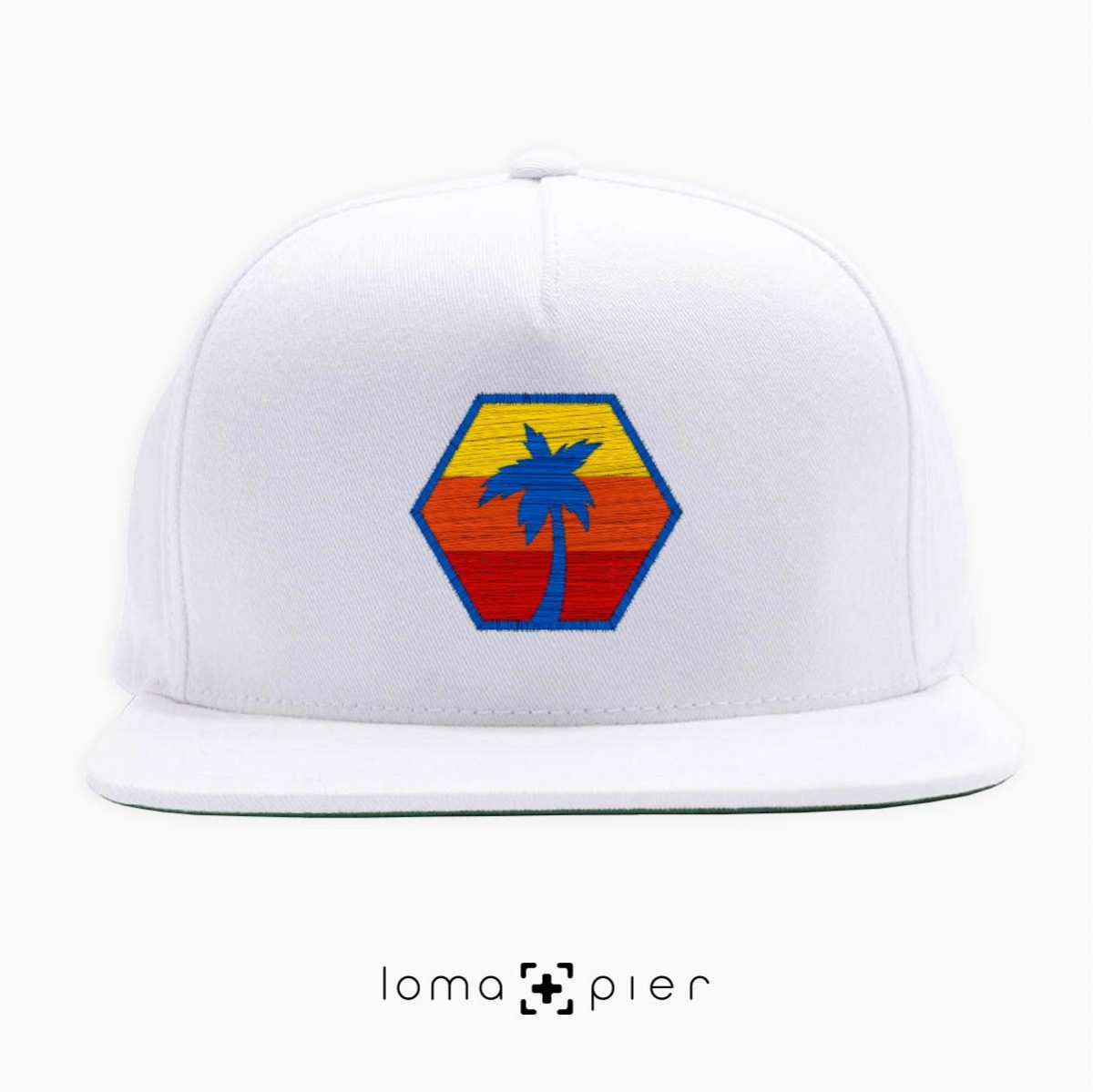 HEXAGON TO THE BEACH hat in white by loma+pier hat store