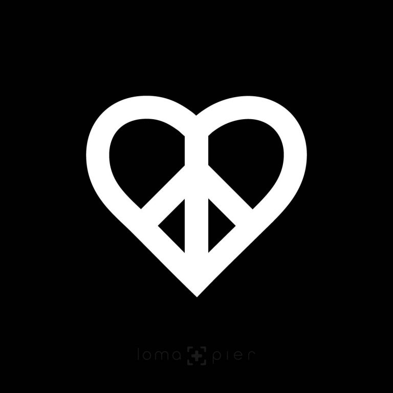 HEART and PEACE SIGN icon design by loma and pier hat shop