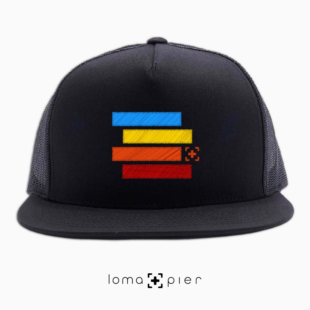 rainbow stack hermosa beach netback hat in black by lomapier hat store