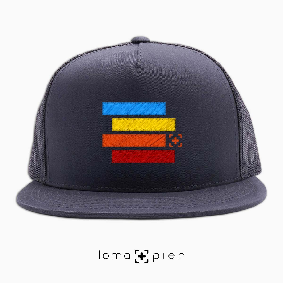 rainbow stack hermosa beach netback hat in charcoal by lomapier hat store