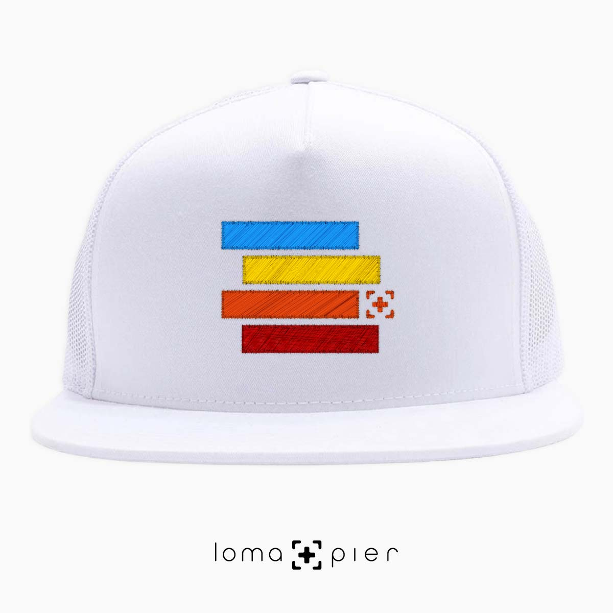 rainbow stack hermosa beach netback hat in white by lomapier hat store