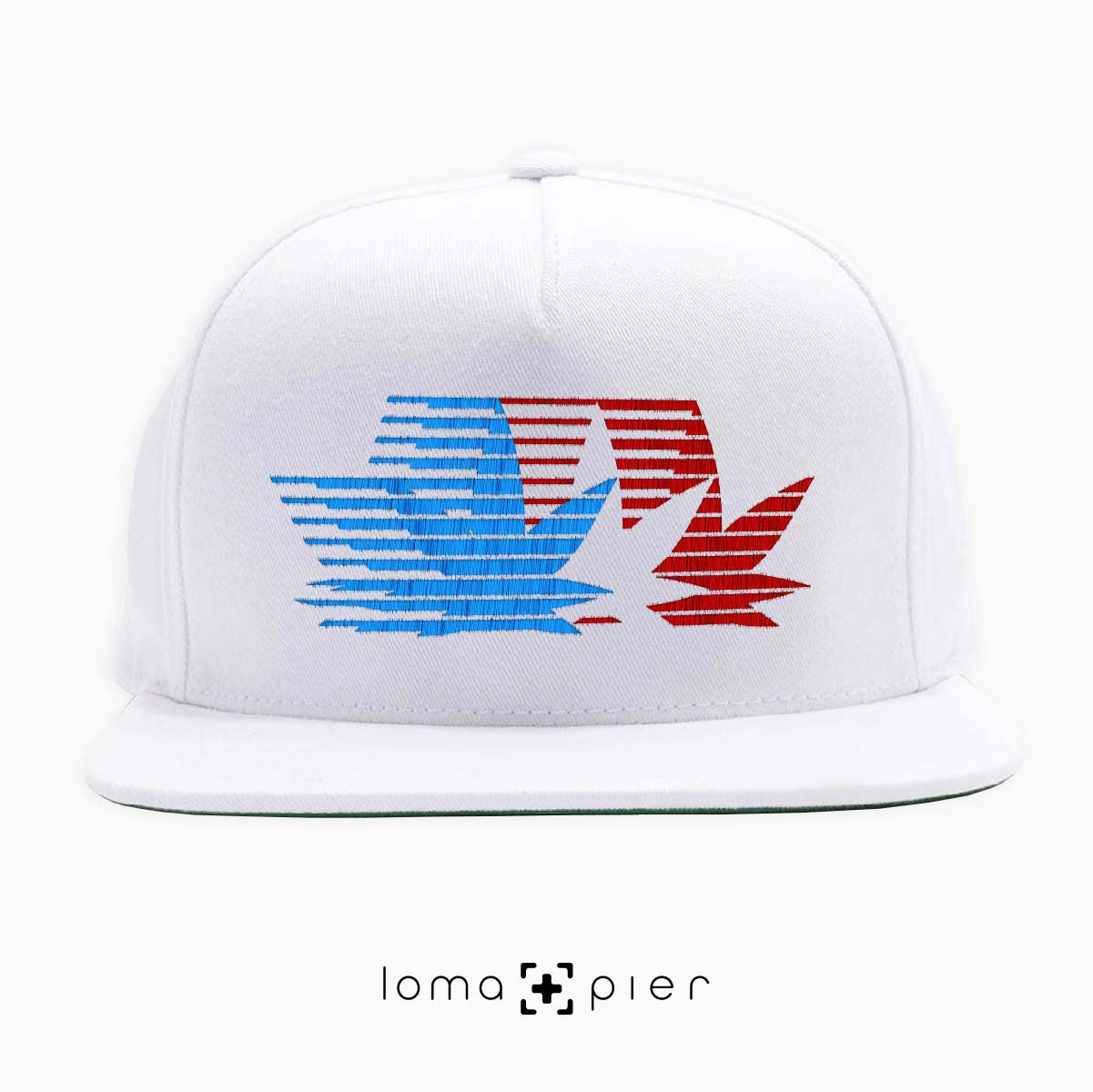 snapback cap with retro weed olympics design by loma+pier hat shop
