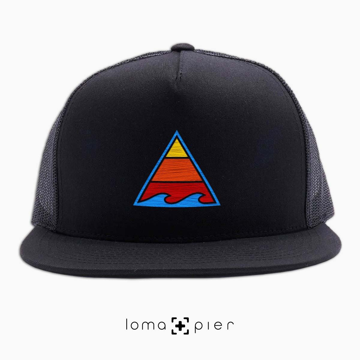 RIDE THAT WAVE beach netback hat in black by loma+pier hat store