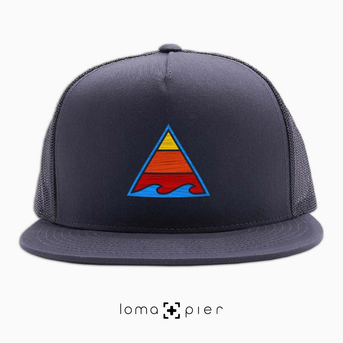 RIDE THAT WAVE beach netback hat in charcoal by loma+pier hat store