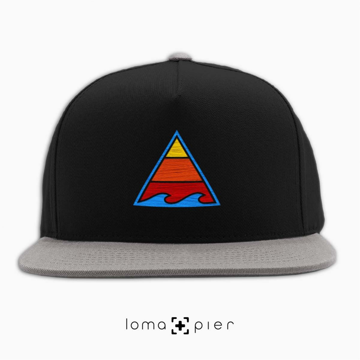 RIDE THAT WAVE hat in black grey by loma+pier hat store