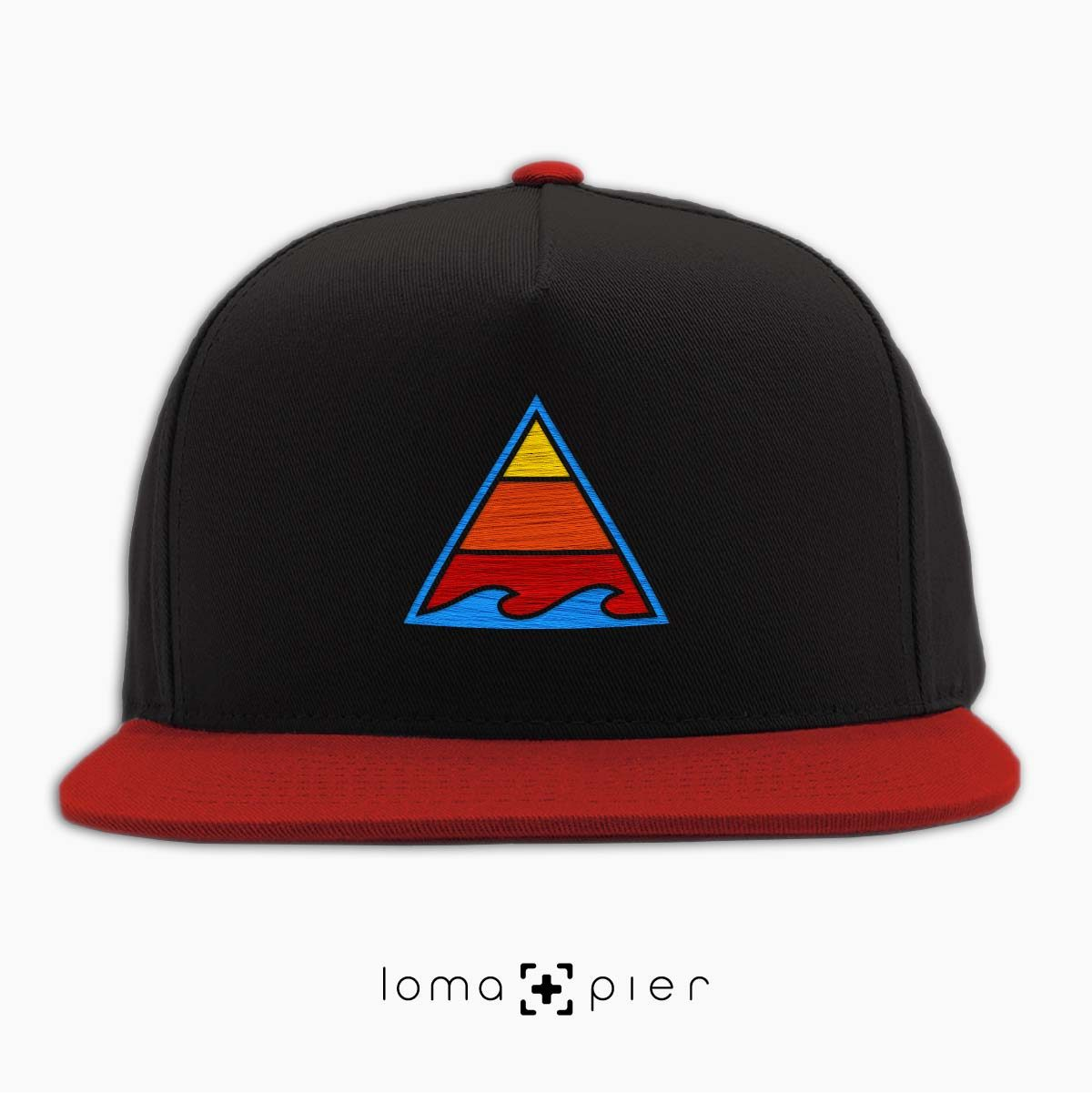 RIDE THAT WAVE hat in black red by loma+pier hat store