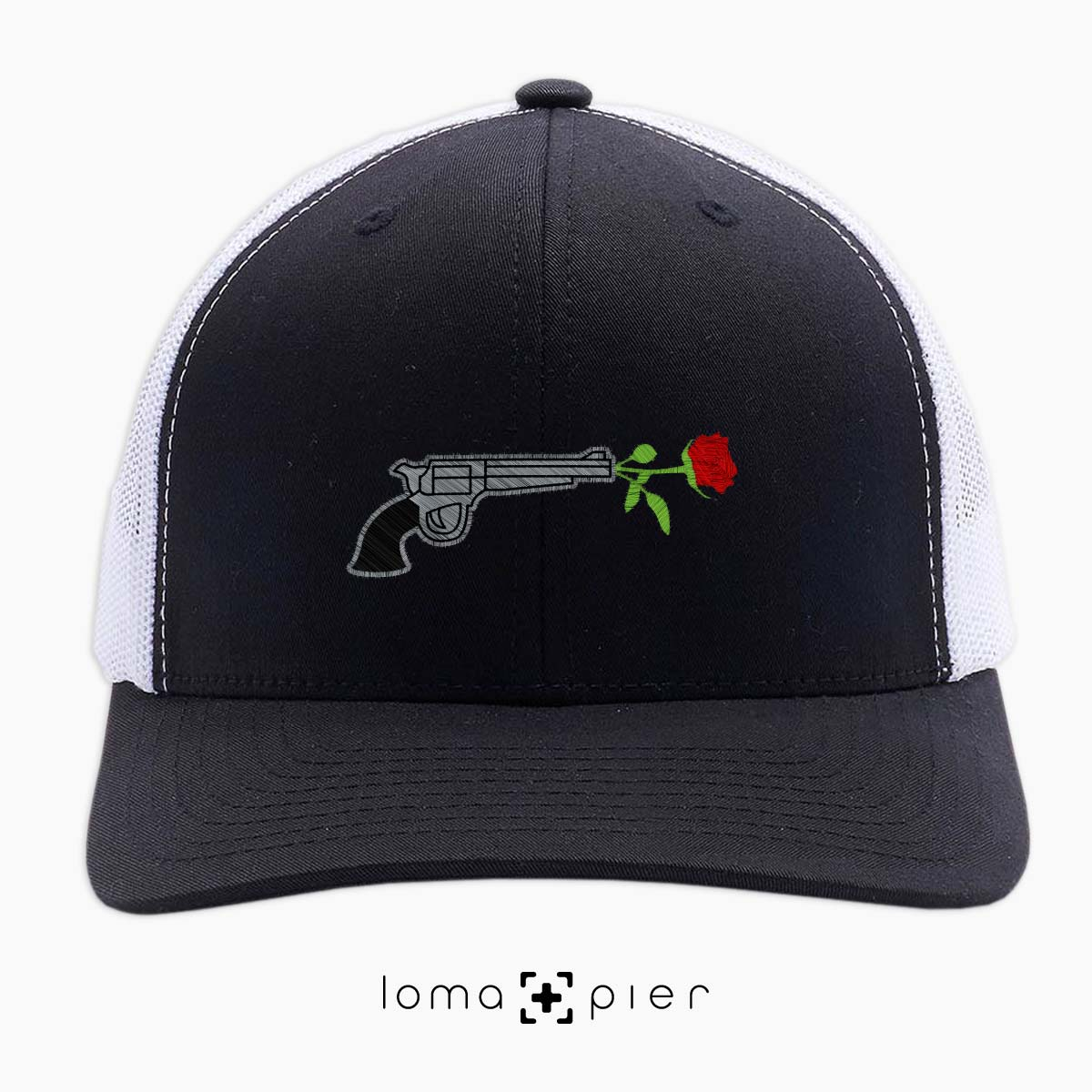 rose revolver netback trucker hat by loma+pier hat shop