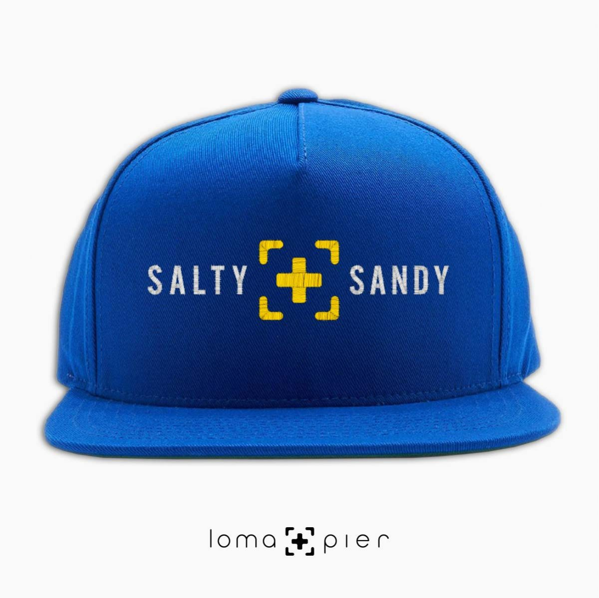 SALTY+SANDY beach snapback hat in royal blue by lomapier hat store
