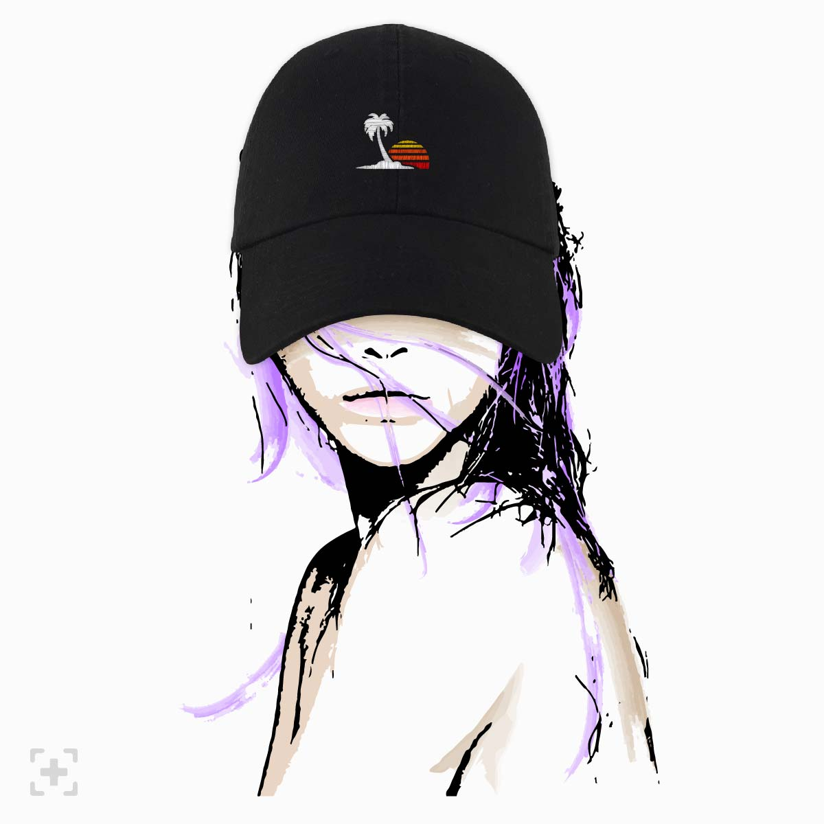 sketch loma+pier venice vibes dad hat made with love in the usa