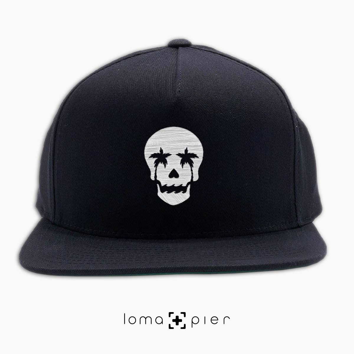 snapback cap with SKULL icon by loma and pier hat shop