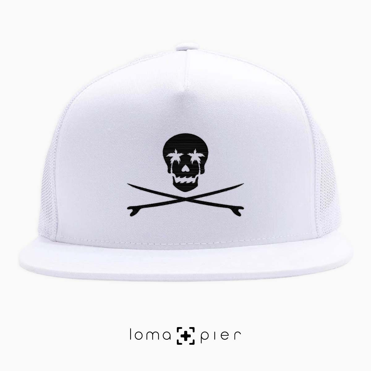 SKULL N' BOARDS redondo beach netback hats in white by loma+pier hat store
