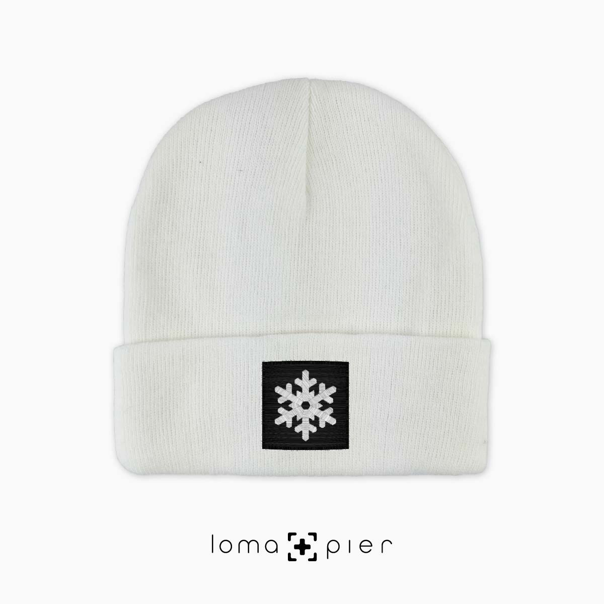 SNOWFLAKE beanie cap by the loma+pier hat shop