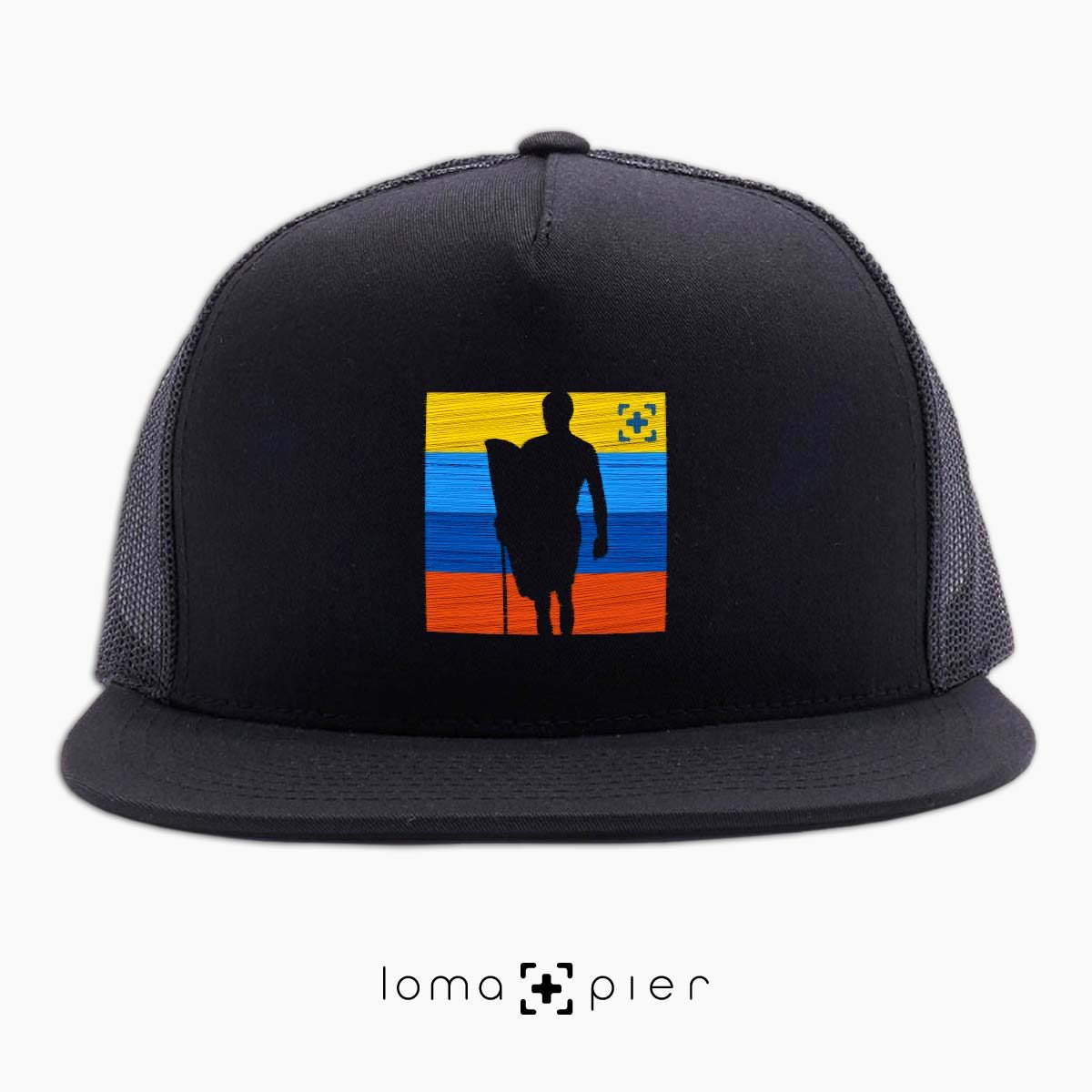 SON OF A BEACH surfer icon netback hat in black by loma+pier hat store