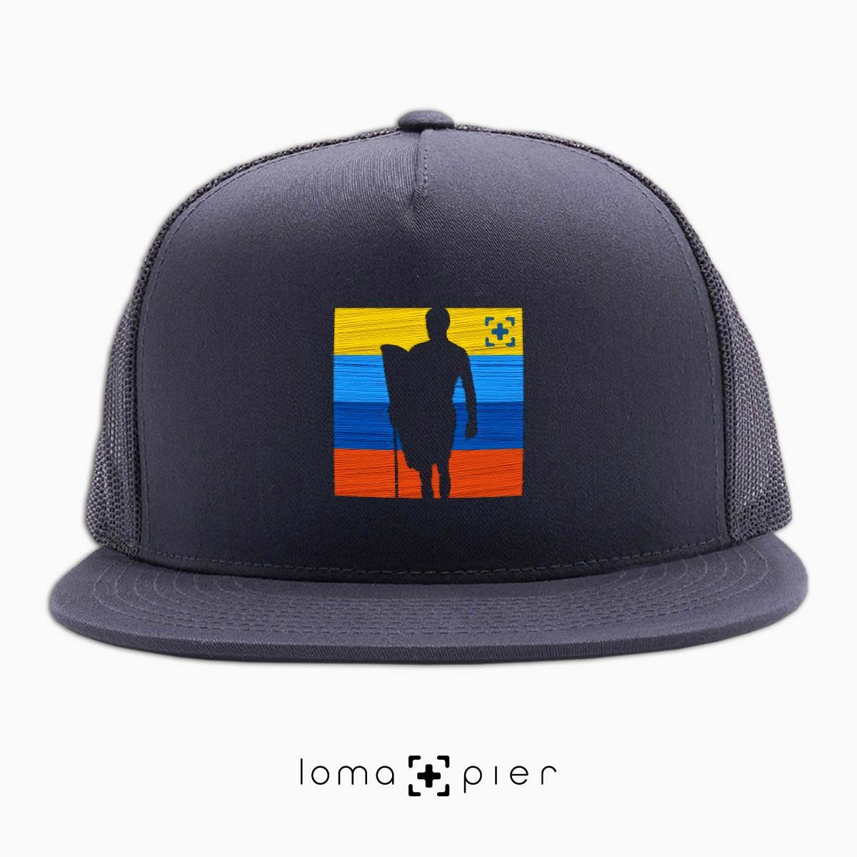 SON OF A BEACH surfer icon netback hat in charcoal by loma+pier hat store