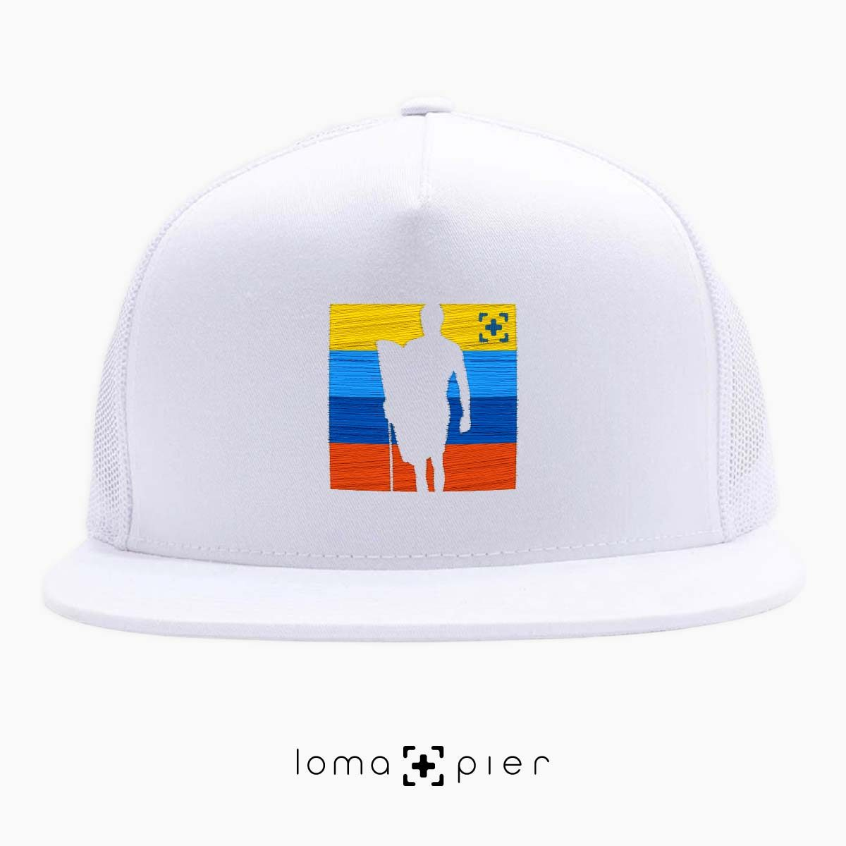 SON OF A BEACH surfer icon netback hat in white by loma+pier hat store