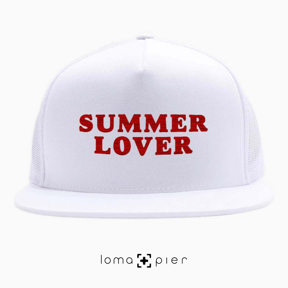 SUMMER LOVER beach netback hat in white by loma+pier hat store