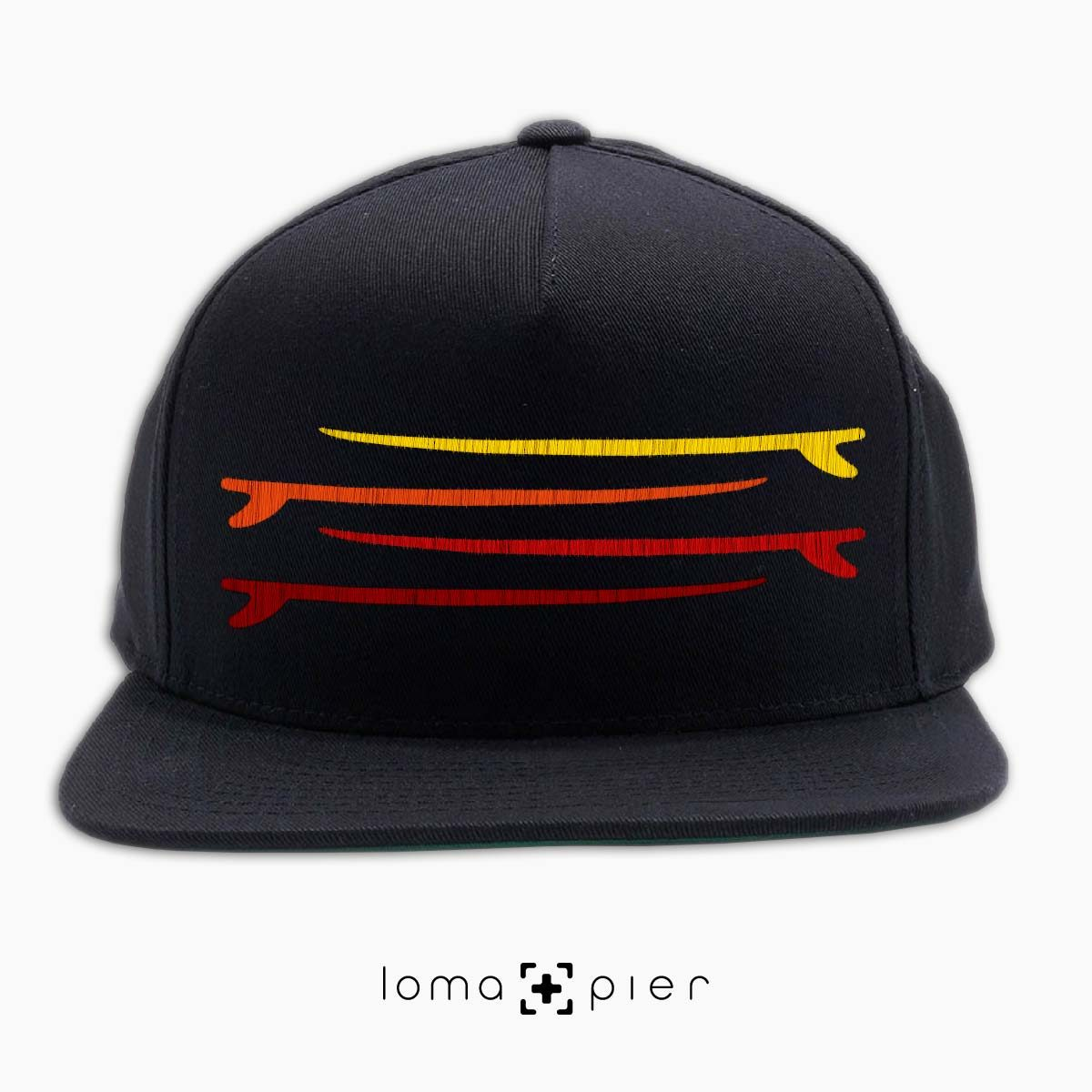 SURF STACK manhattan beach snapback hat in black by loma+pier hat store