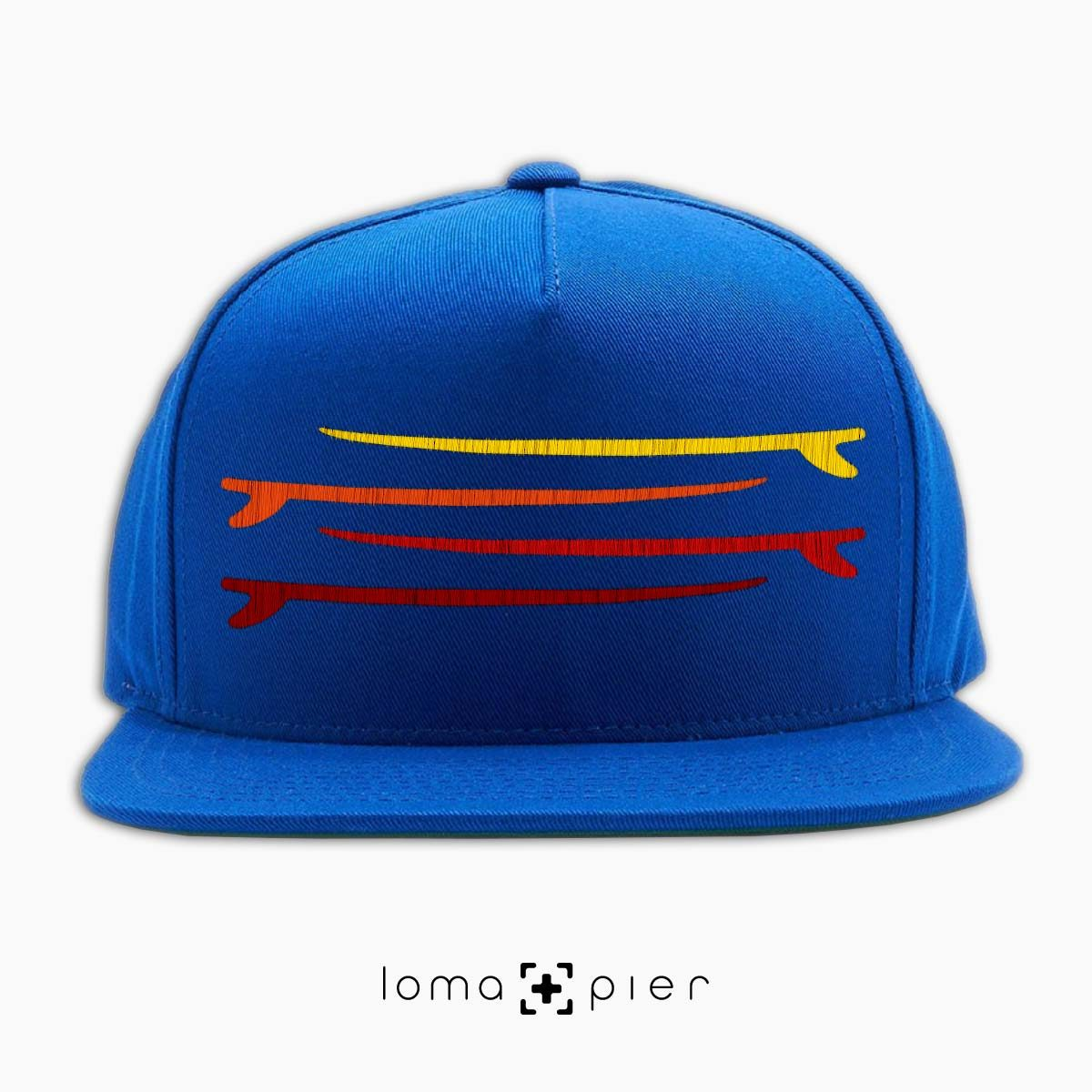 SURF STACK manhattan beach snapback hat in blue by loma+pier hat store