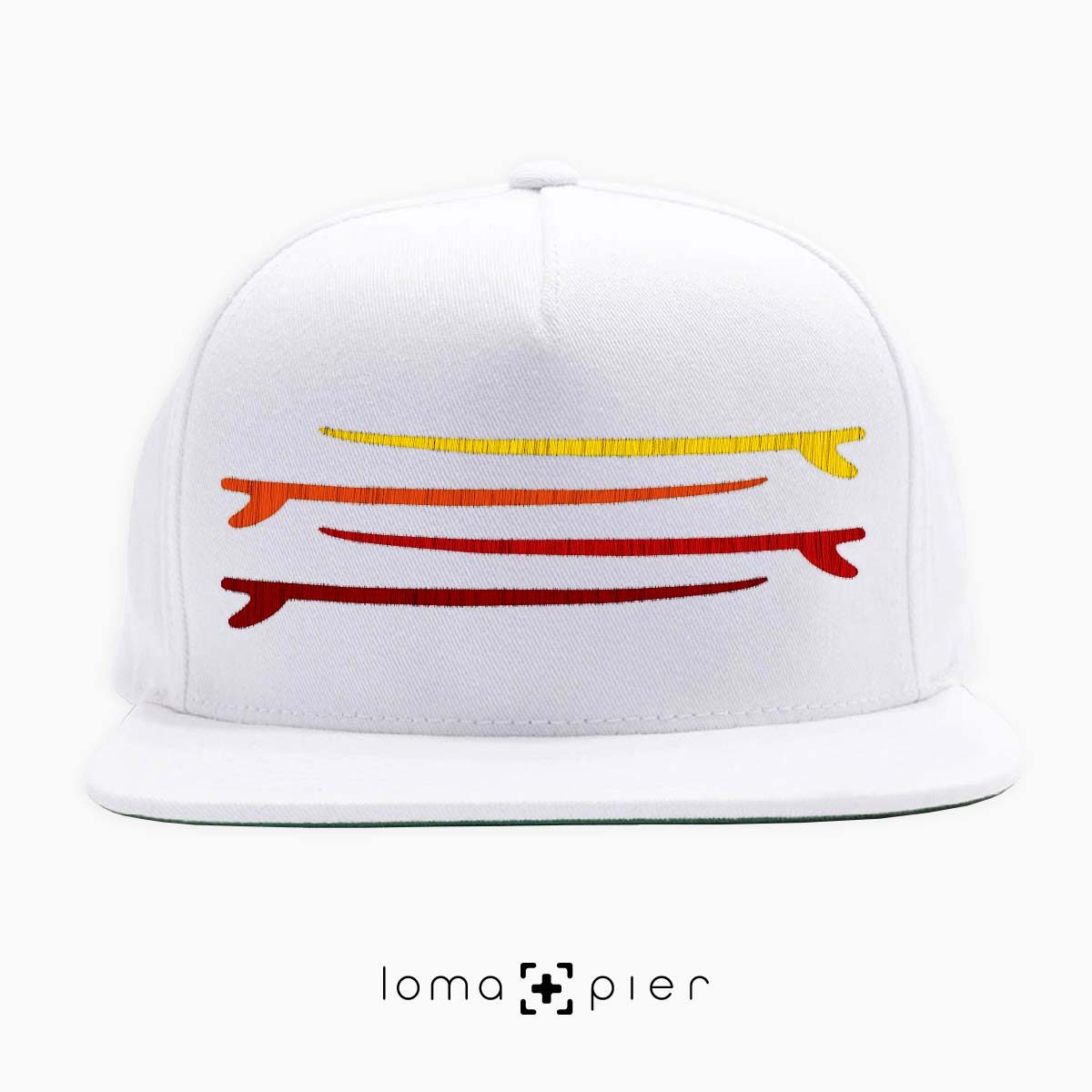 SURF STACK manhattan beach snapback hat in white by loma+pier hat store