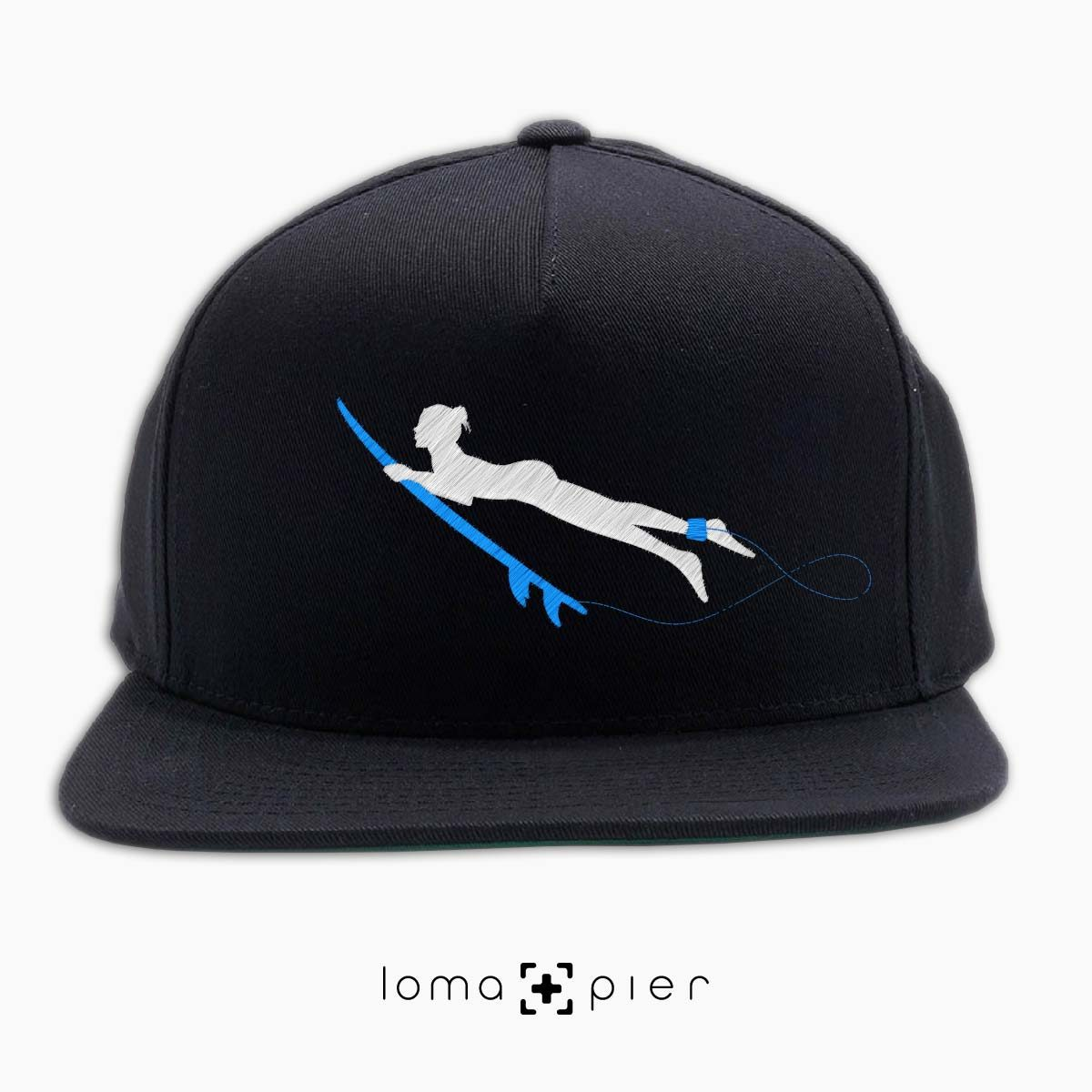 SURFING NAKED nude beach hat in black by loma+pier hat store