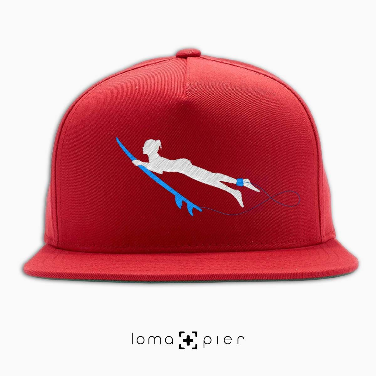SURFING NAKED nude beach hat in red by loma+pier hat store