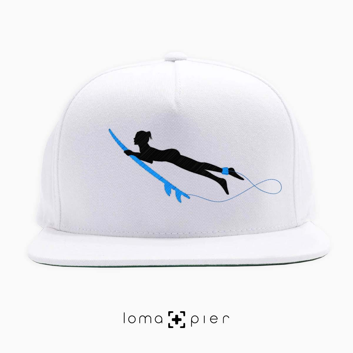 SURFING NAKED nude beach hat in white by loma+pier hat store