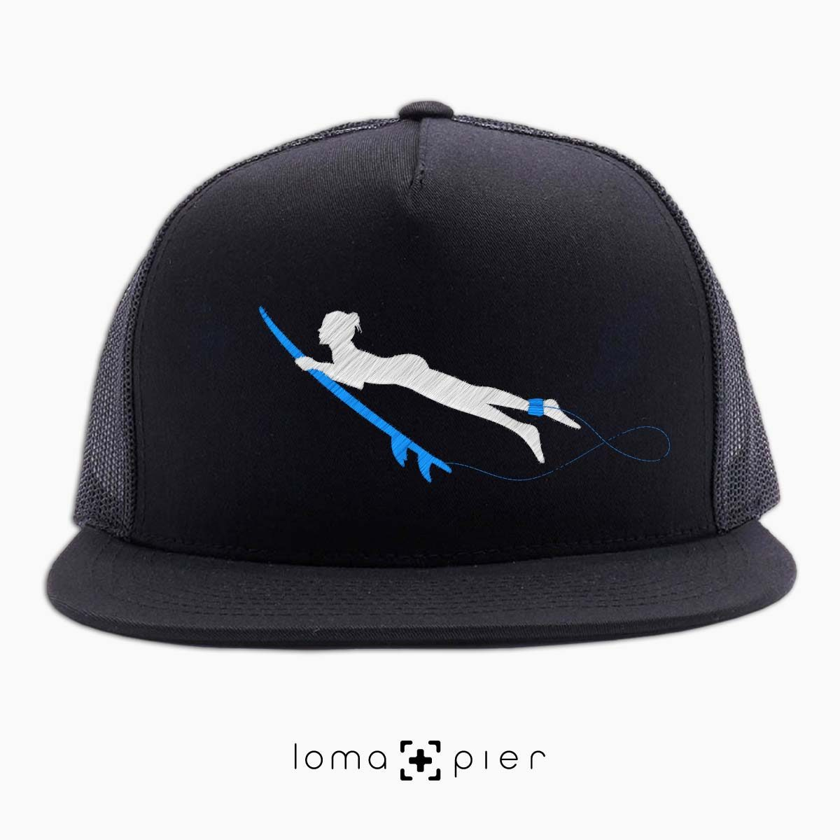 SURFING NAKED nude beach netback hat in black by loma+pier hat store